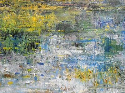 Marsh Study - Impressionist Art by Laurette Carroll
