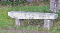 Stone bench at Clark Lookout, New London, NH