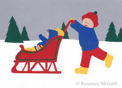 Grannie's Sled by Rosemary McGuirk