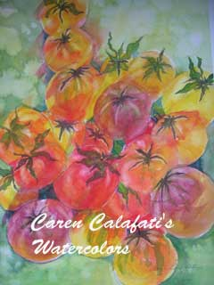 Heirloom Tomatoes by Caren Calafati