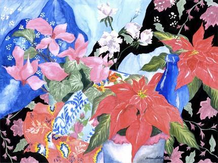 Holiday Blooms by Caren Calafati