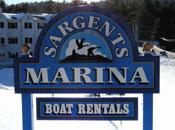 Sargents Marina Sign