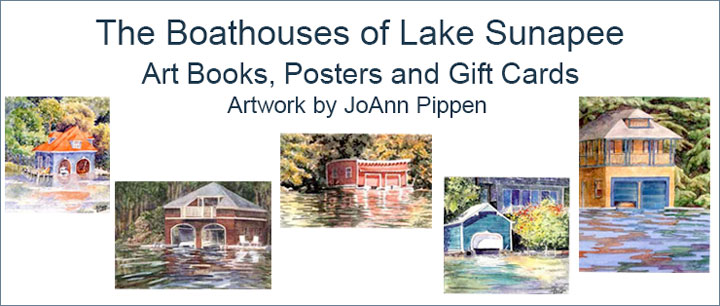 Boathouses of Lake Sunapee Art books, posters and card sets