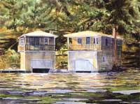 Sisters - Lake Sunapee Boathouse b