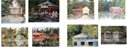 Sunapee Boathouse Cards 3