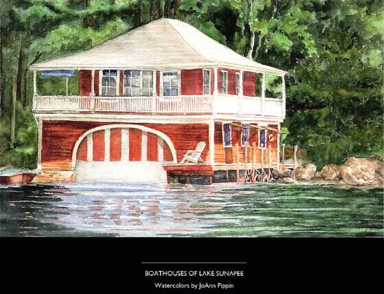 Boathouses of Lake Sunapee Softcover Art Book