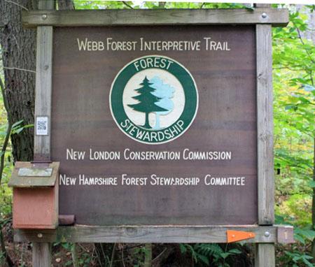 Webb Forest Trailhead Sign