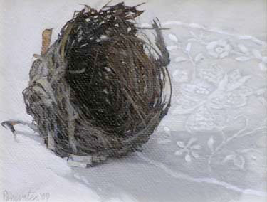 Empty Nest with Embroidery by Susan Parmenter