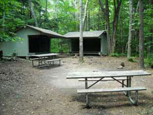 Renovated Lean-to Site at Mt Sunapee Campgound