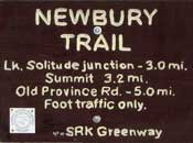 Newbury Trail Sign