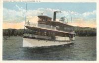 Lake Sunapee Postcard Steamship