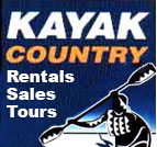 Kayak Country, Sales, Rentals & Tours