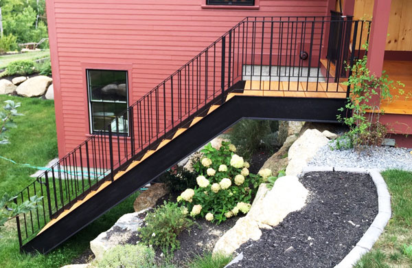 Wrought Iron Stairway and Railing