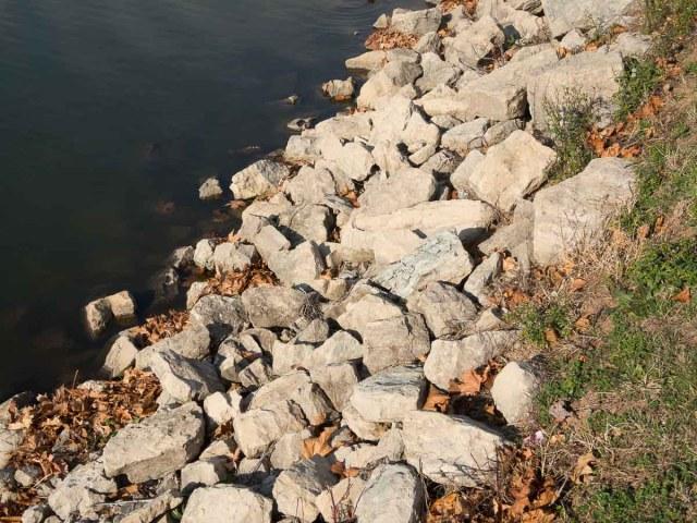 Pond Shoreline Riprap