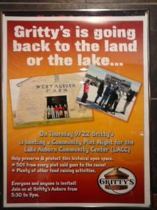 August Meeting Minutes, Community Event Coming Up at Gritty's 9/22