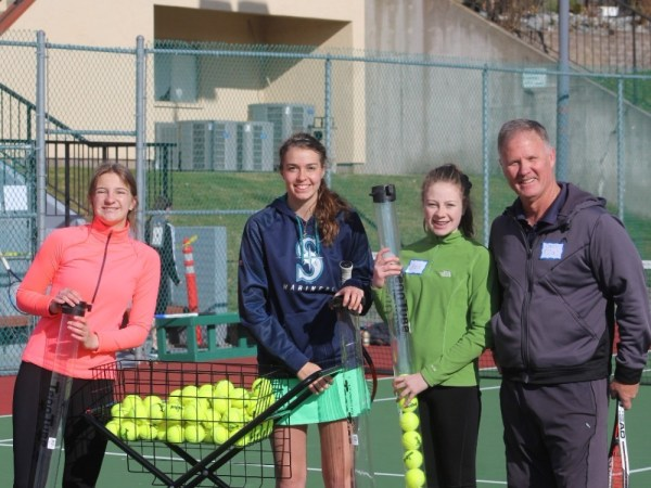 High School Students Participate in Tennis Clinic - Lake ...