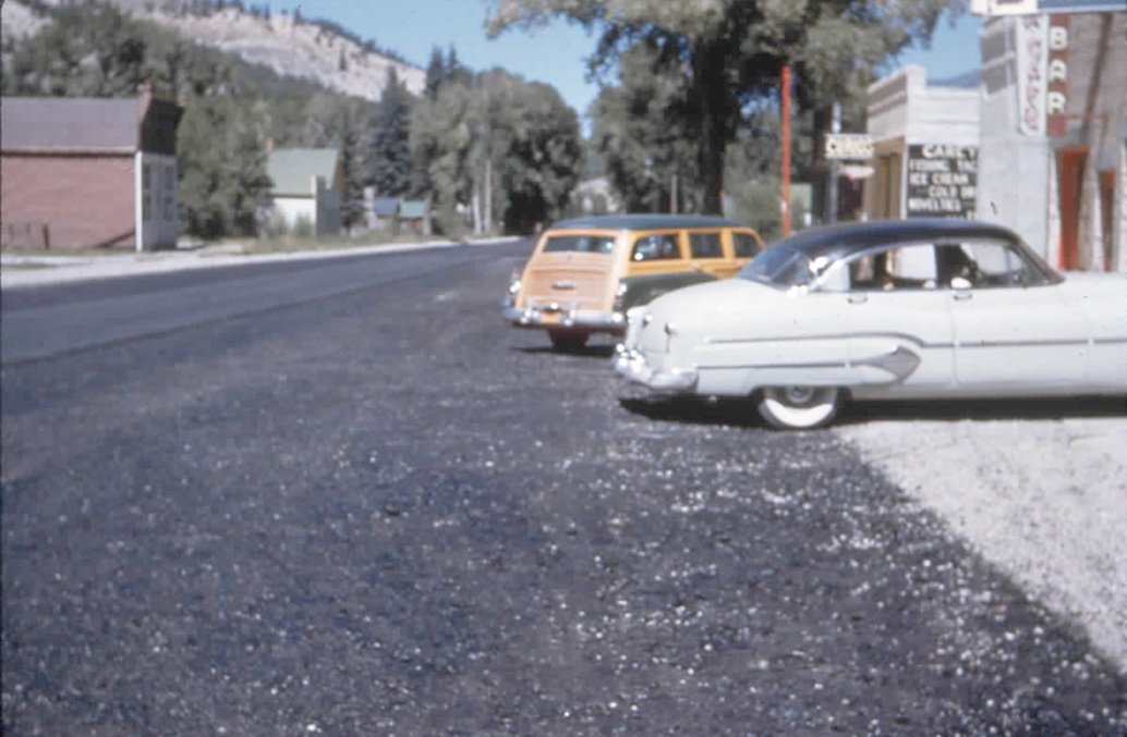 Chicago detective Frank Kasky chronicled changes which were occurring in Lake City in the 1950s, including the first asphalt pavement which was installed on downtown Silver Street in 1955.