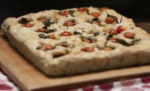 Focaccia with tomato