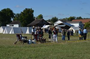 """A long view of the """"Encampment Area"""" at Texian Heritage Festival"""