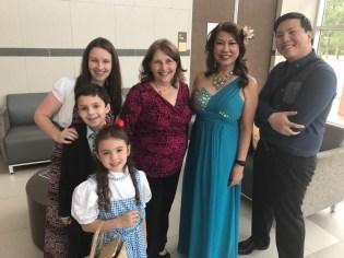 3 generations students, Tammy, Megan Caleb and Cheyenne (1)