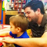Dads,Dinos& Donuts day with dads at The Woodlands Children's Museum