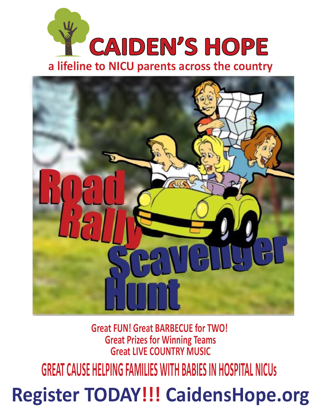 Halloween Road Rally to benefit Caiden's Hope Foundation — Helping provide much-needed funds to families with tiny premature infants struggling for life in hospital NICUs