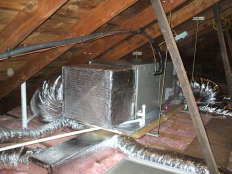 Air handler with duct work