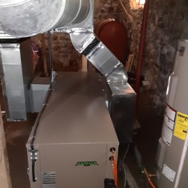 Geothermal Heat Pump Replaces an Oil-burning Furnace