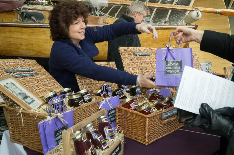 Gill Anderson on the Bonningate Cottage stand