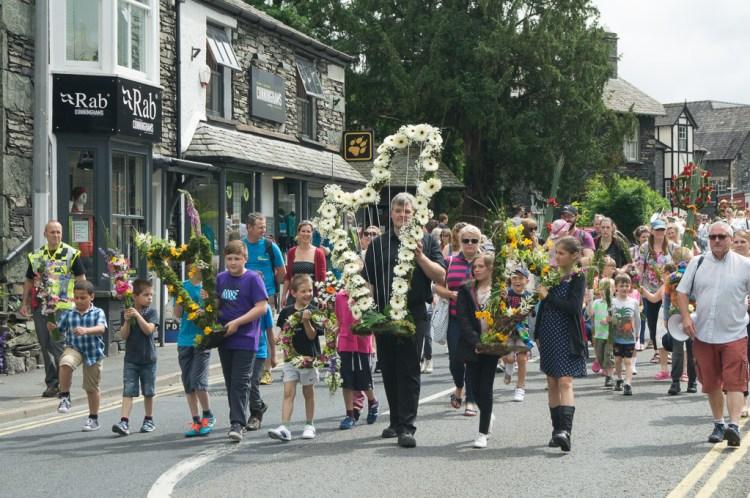 The Ambleside Rushbearing procession