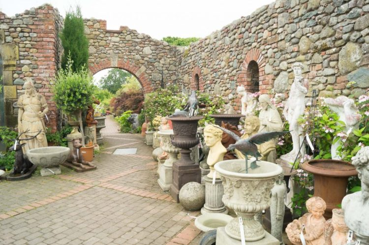 Statues at Larch Cottage Nurseries near Penrith