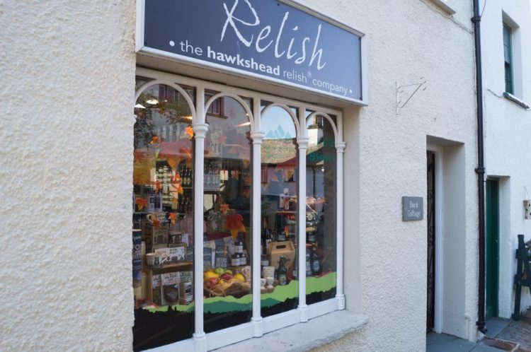 The internationally famous Hawkshead Relish shop