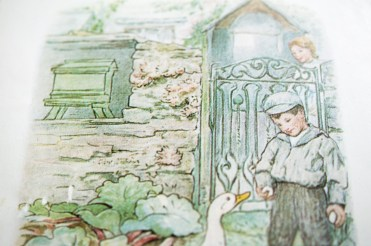 An image from The Tale of Jemima Puddleduck
