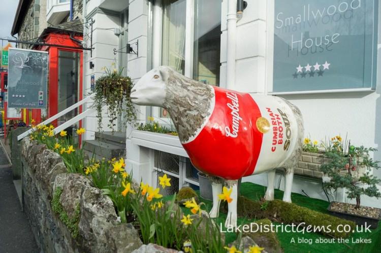 Rosemaaaary, The Souper Ewe outside Smallwood House Hotel, Ambleside