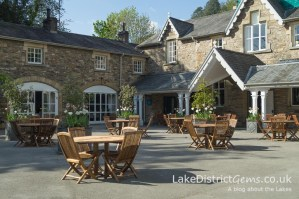 The courtyard at Holker Hall