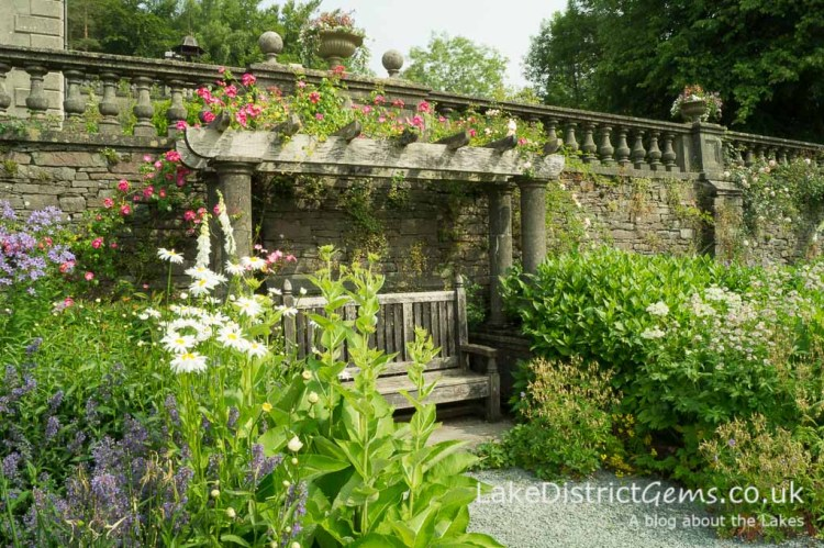 The border at Rydal Hall