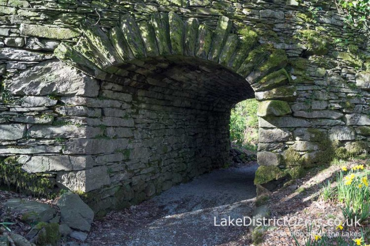 A stone tunnel at Rydal Hall