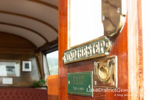 Detail onboard the National Trust's Steam Yacht Gondola