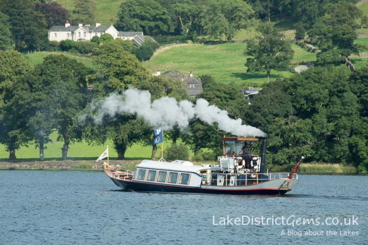 The National Trust's Steam Yacht Gondola on Coniston Water