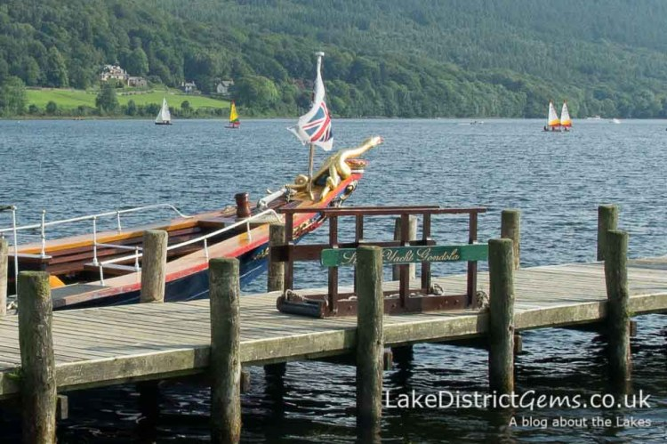 The National Trust's Steam Yacht Gondola at Coniston Pier Jetty
