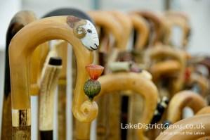 Walking sticks on display at the Lake District Sheepdog Trials