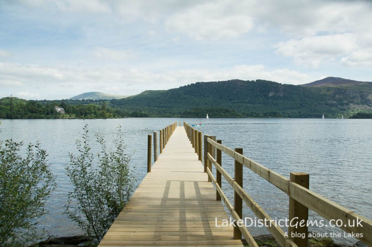 The Lingholm Estate jetty on Derwentwater
