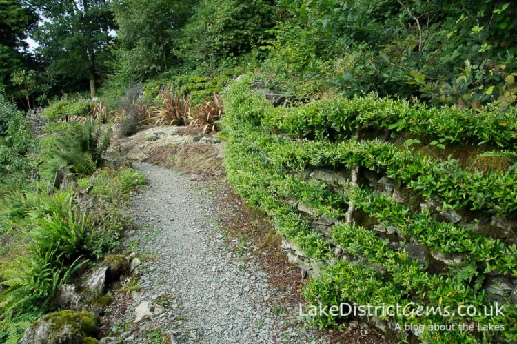The Zig-zaggy Garden at Brantwood, Coniston