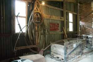 Inside the entrance to the Force Crag Mine processing mill