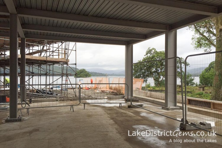 The view from what will be the café at Windermere Jetty