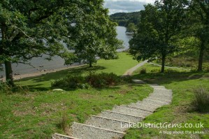 The path down to the lakeside