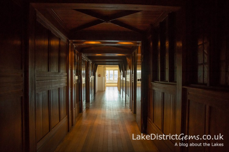 An oak-panelled passage at Blackwell, The Arts and Crafts House