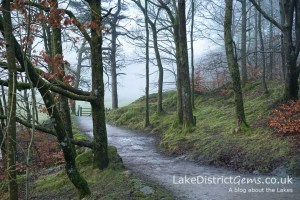The Cumbria Way footpath which leads to Elterwater
