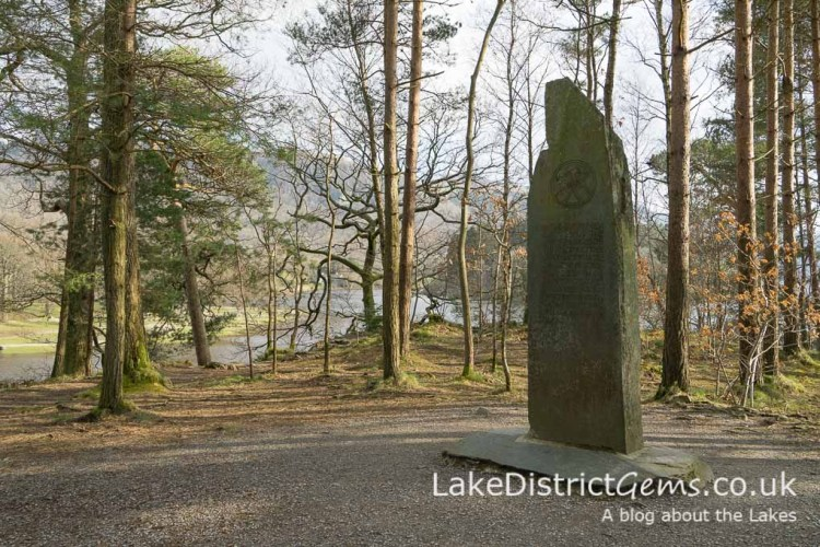 The Ruskin Memorial stone