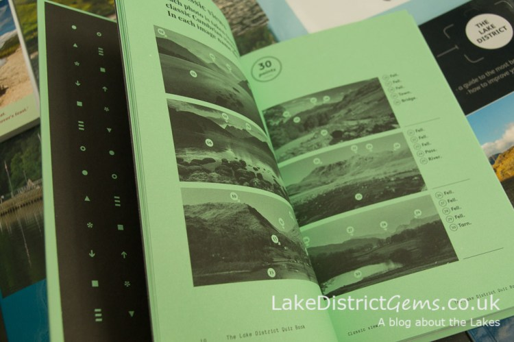 A quiz page from the Lake District Quiz Book by David Felton, Inspired by Lakeland